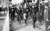 Mussolini i els camises negres durant la Marxa sobre Roma de 1922