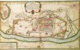 Detall del turó de la Seu Vella amb els baluards i les línies defensives del castell