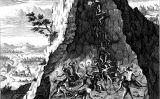Les condicions de treball a les mines de Potosí en un gravat de Theodor de Bry