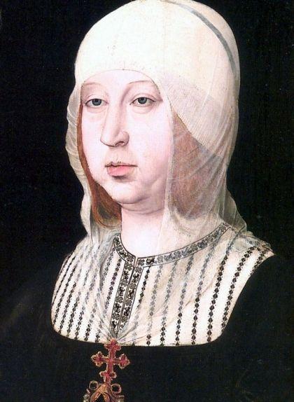 Retrat d'Isabel la Catòlica, amb un vel per tapar el cabell