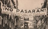 "La frase ""¡No pasarán!"" a un cartell republicà a Madrid durant la Guerra Civil"