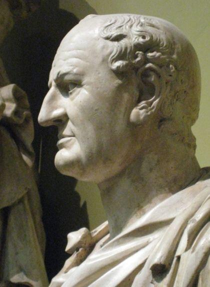 Bust de Vespasià al Museu del Louvre, a París