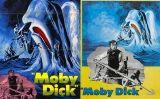 Dos cartells de l'adaptació cinematogràfica de 'Moby Dick' que va dirigir John Houston, amb Gregory Peck com a capità Ahab