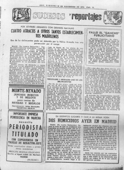 Titulat del diari 'Abc' sobre els successos ocorreguts a Madrid