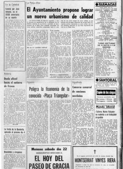 Titular del 'Diario de Barcelona' sobre la regulació urbanística a Platja d'Aro