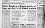 Titular del 'Diario de Barcelona' sobre el sorteig del Mundial de l'Argentina