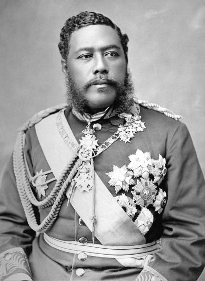 David Kalakaua, germà de Lili'uokalani, rei de Hawaii entre 1874 i 1891