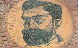 Retrat de Francesc Layret, a la plaça que ara du el seu nom, al núm. 26 del carrer de Balmes, on fou assassinat