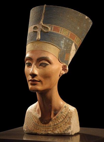 Bust de Nefertiti que es conserva al Neues Museum de Berlín