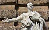 Estàtua de Ciceró davant l'antic Palau de la Justícia a Roma (segle XIX)