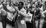 Manifestació en suport de Nelson Mandela
