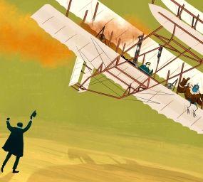 Il·lustració del 'Flyer' dels germans Wright
