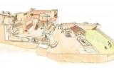 Recreació del castell de Miravet