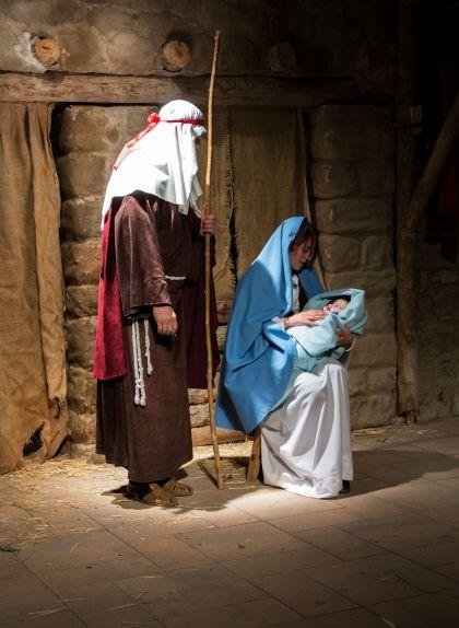 El naixement del nen Jesús, escena del pessebre dels Prats del Rei