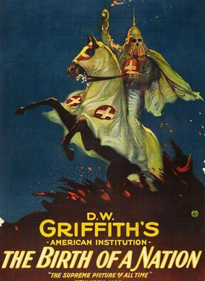 Cartell de la pel·lícula 'El naixement d'una nació', de D.W Griffith