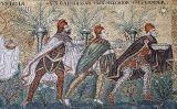 Els tres Reis Mags en un mosaic de la basílica de Sant'Apollinare Nuovo, a Ravenna, Itàlia
