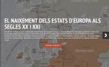 Interactiu sobre els nous estats d'Europa als segles XX i XXI