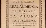 Primera pàgina del decret de Nova Planta de Catalunya