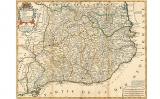 Mapa francès del 1694 amb les vegueries catalanes