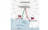 Mapa de les expedicions d'Amundsen i Scott