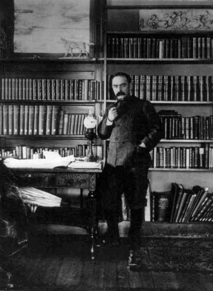 Kipling al seu estudi a Naulakha (Vermont, els Estats Units), el 1895