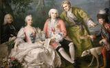 'El cantant Farinelli amb amics', quadre de Jacopo Amigoni