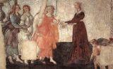 'Venus i les tres gràcies li ofereixen presents a una jove', de Botticelli