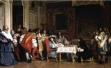 'Lluís XIV invita Molière a compartir el seu sopar', llenç del 1863 de Jean-Léon Gérôme