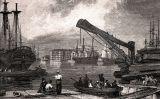 Els 'Commercial Dock', a Rotherhithe (Londres), el 1827