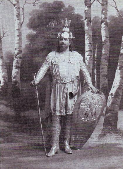 Fotografia del 1892 del tenor Francisco Viñas en el paper de Lohengrin
