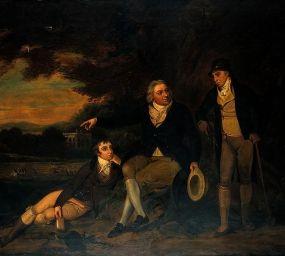 Llenç del 1910 d'un pintor anglès titulat 'Edward Jenner aconsellant a un granjer que vacuni la seva família'