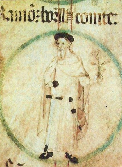 Ramon Borrell (rotlle genealògic del monestir de Poblet)