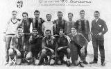 Pòster del Barça fet per celebrar el triomf davant la Real Sociedad a Santander en la Copa del Rei del 1928