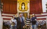 La redacció del SÀPIENS a l'amfiteatre de la Reial Acadèmia de Medicina de Catalunya