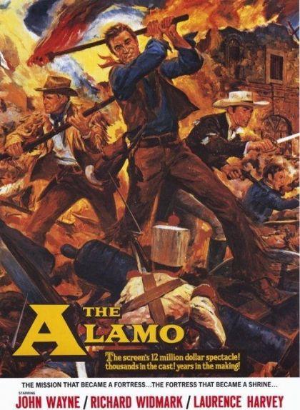 Caertell de la pel·lícula 'El Álamo' estrenada als Estats Units l'any 1960
