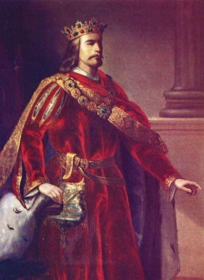 Retrat d'Alfons III el Benigne de finals del segle XIX