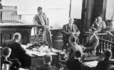 Charles Lindbergh testificant al judici contra Richard Hauptmann