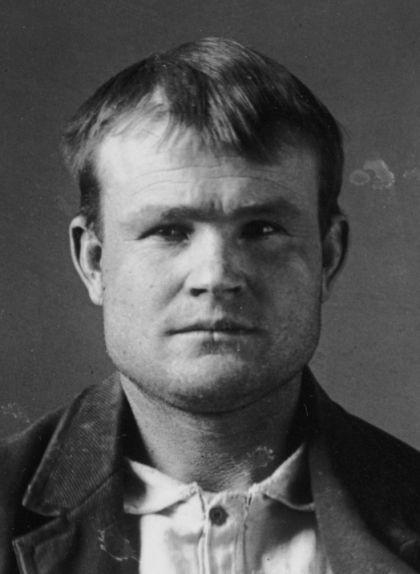 Retrat de la fitxa policial de Butch Cassidy de la presó de Laramie, a Wyoming (EUA)