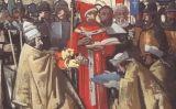 El papa Silvestre II i l'abat Asztrik