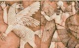 Gravat de Marduk, déu principal de Babilònia, destruint amb els seus llamps Tiamat, el drac del caos primitiu