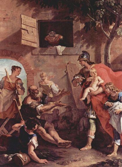 Quadre que mostra la infància de Cir II, el Gran