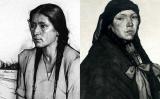 Dibuixos de Subirats de dues dones araucanes (1930)