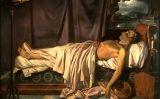 'Lord Byron en el seu llit de mort', pintat l'any 1826 per Joseph Denis Odevaere