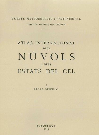 Portada de l''Atlas Internacional dels Núvols i dels Estats del Cel'
