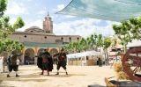 Recreació històrica durant una edició anterior de la Festa de la Revolta dels Segadors de Santa Coloma de Farners