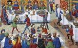 Representació d'un banquet de l'edat mitjana