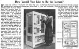 Anunci d'una de les primeres neveres, amb refrigerant de diòxid de sofre, a una publicació nord-americana l'any 1919