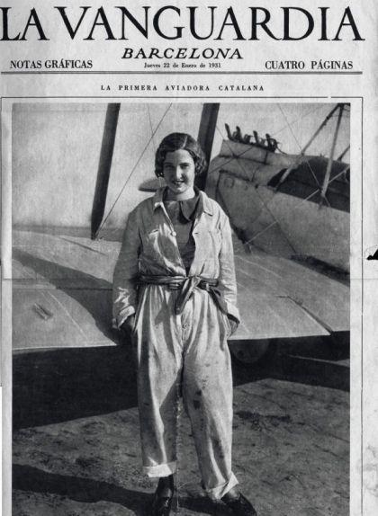 Portada de 'La Vanguardia' del 22 de gener de 1931, amb una fotografia a tota pàgina de Mari Pepa Colomer