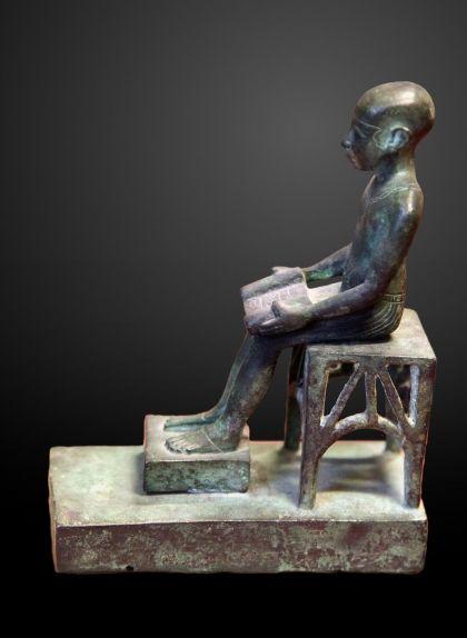 Estàtua d'Imhotep forjada entre el 664 i el 332 AC