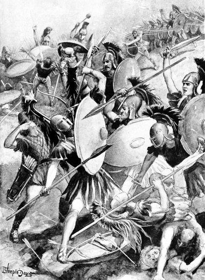 Representació de la destrucció de l'exèrcit d'Atenes a Siracusa en el marc de les guerres del Peloponès